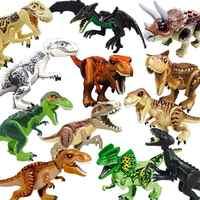 Jurásico dinosaurios 2 parques los tiranosaurios Rex Mundo Jurásico ladrillos Navidad juguetes de los niños juguetes Compatible Legoings