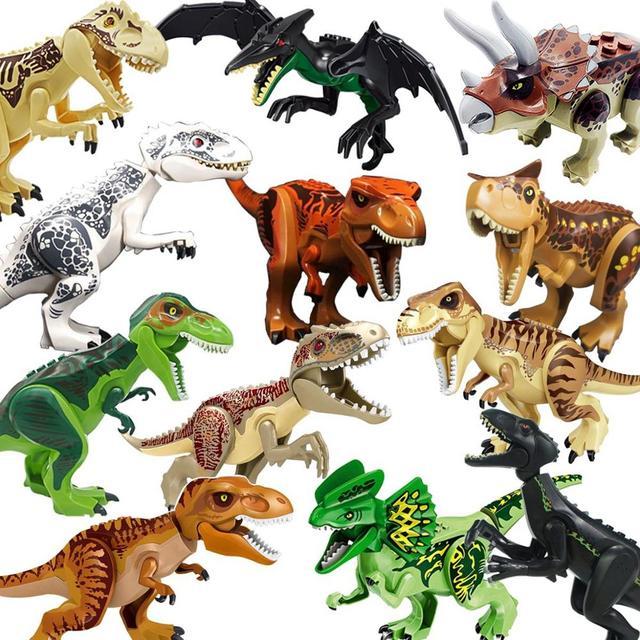 Khủng Long Jurassic Thế Giới 2 Công Viên Tyrannosaurs Rex Jurassic Park Thế Giới Gạch Giáng Sinh cho Trẻ Em Đồ Chơi juguetes Tương Thích Legoings