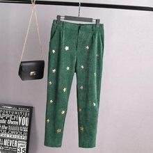 87415ad12ee A0 autumn Plus size Women clothing Harem Pants 3XL Bottoms Casual Corduroy  Loose sequin Trousers 2001