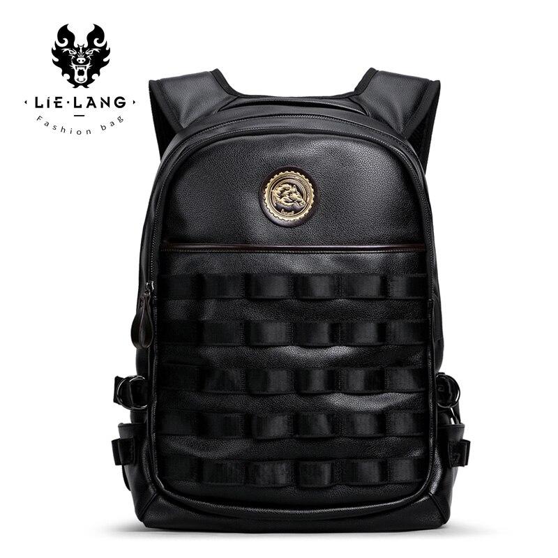 LIELANG 2018 New Hot Bag Men's Backpack Waterproof Bag Fashion Trend Personality Computer Bag Men Shoulder Bag Leather Men 2016 men s batik canvas bag new retro simple street trend personality backpack men s bag 82050k