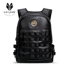 LIELANG Men Backpack leather Waterproof Bag Fashion Computer Bag Men Shoulder Bag Leather Men backpack