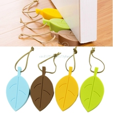 Funny Leaf Style Home Decor Finger Safety Protection Door Stop Stopper Doorstop #L057# new hot