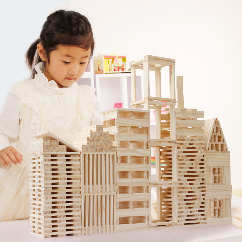 102pcs children kids natural Colorful Wooden building blocks Stacking Game early development Educational Creative Toys стоимость
