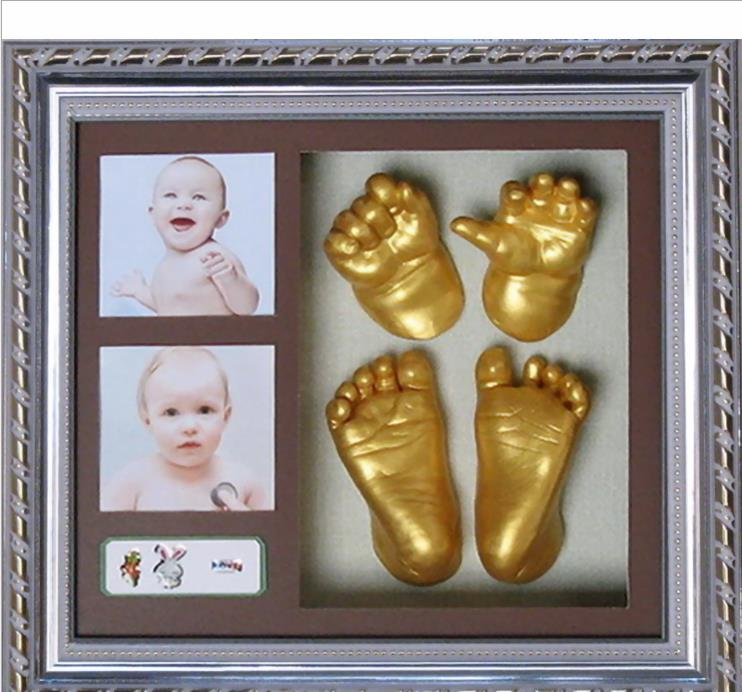3D Hand & Foot Print Mold For Baby Powder Plaster Casting Kit Handprint Footprint Keepsake 100g Model Powder + 200g Clone Powder