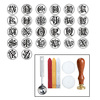 Classic Vintage Alphabet A Z Optional Wax Badge Seal Stamp Letter Wax Seal Kit Set Handmade