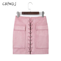 2017 Sale Acetate Straight Women Short Skirt Autumn Winter Solid Color Suede A Word Slim Sectionpack