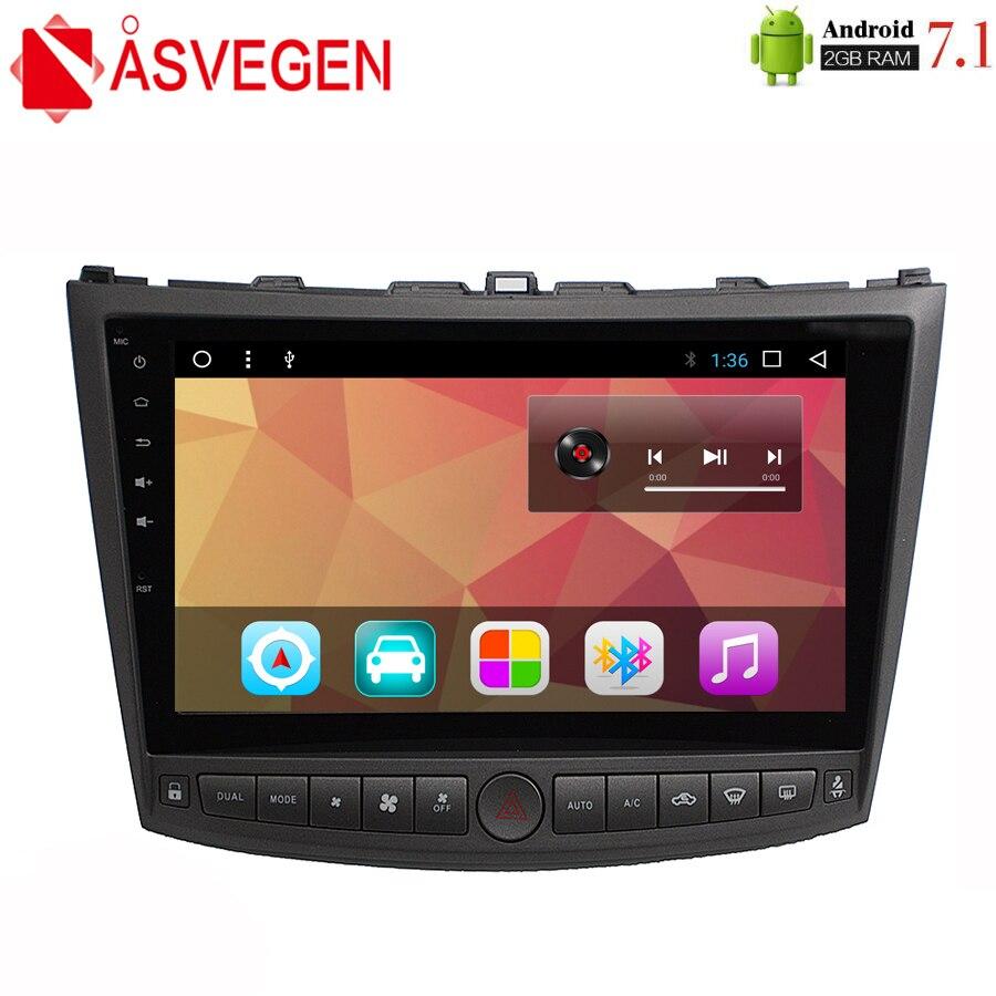 Asvegen 10.2 ''Lecteur DVD de Voiture Pour Lexus IS250 is200 300 2006-2011 Android 7.1 Écran Tactile GPS Navigation voiture Radio Multimédia