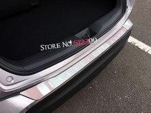 Супер тонкий accessiores! Нержавеющая сталь внешний задний багажник порога Бампер протектор Автомобиль Стайлинг для Toyota C-HR chr 2016 2017