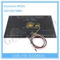 Bigeer! 2015 MK2A 300*200*3.0mm RepRap RAMPAS 1.4 PCB Heatbed Alumínio + LED + Resistor + cabo + 100 k ohm Theristors cama calor PCB R205 + CC