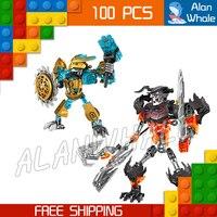 107 개 벨라 Bionicle 영웅 Tahu 마스크 메이커 두개골 분쇄기 모델 빌딩 블록 소년 아이 벽돌 호환