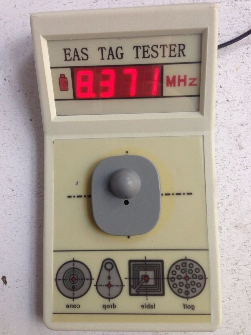 EAS tag tester, EAS tag frequency tester 8.2mhz for soft label and hard tag melanie mcgrath hard soft and wet