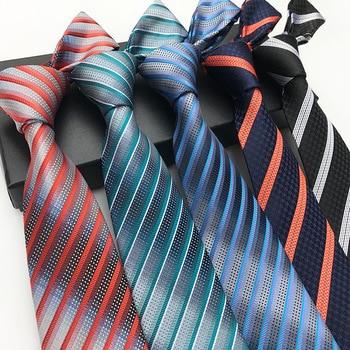 Hot Sale Mens Classic Bright Color Stripe Tie for Man Geometric Parrten Business Party Wedding Necktie