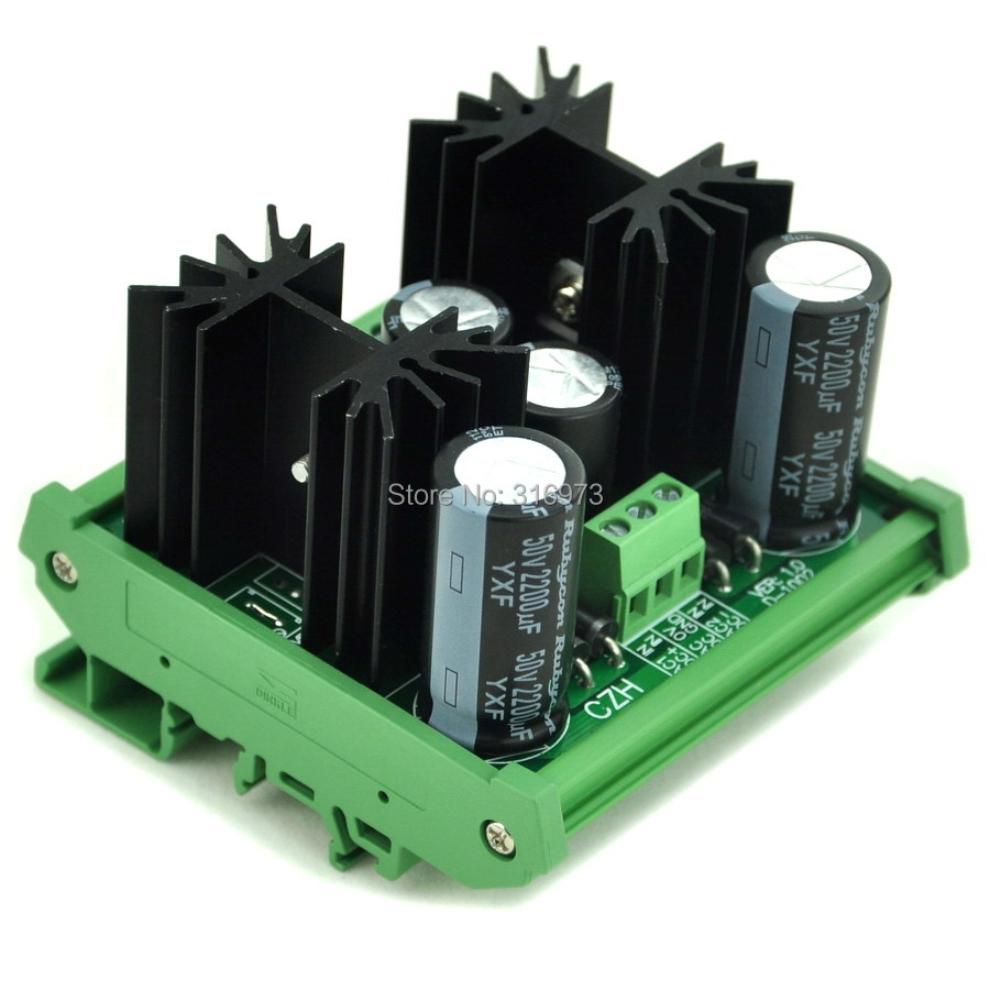DIN Rail Mount Positive and Negative +/ 8V DC Voltage Regulator Module Board.