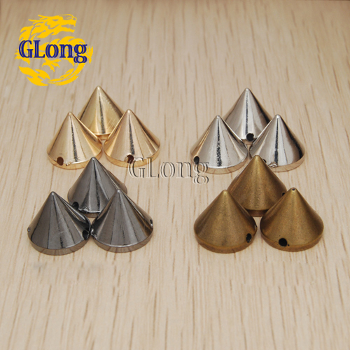 Silver plastic sew on spikes 50 pcs