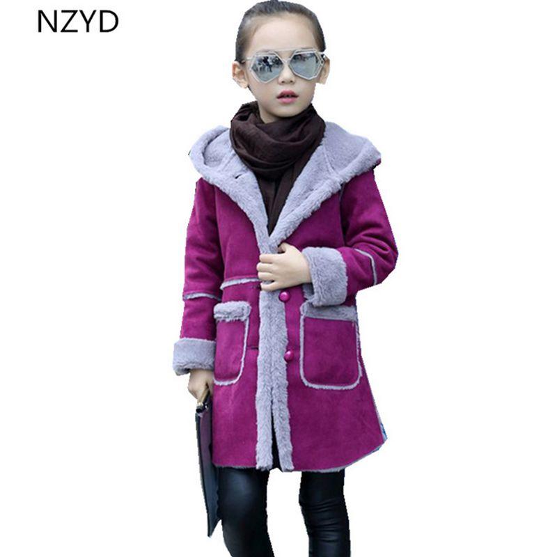 Autumn Winter Girls coat 2017 New Fashion Girl Woolen Overcoat Thick Warm Hooded Casual Children Clothes 4-14Years DC557 cnc ballscrew sfu1204 set ball screw sfu1204 l350mm end machined sfu1204 ball nut bk10 bf10 end support for ballscrew