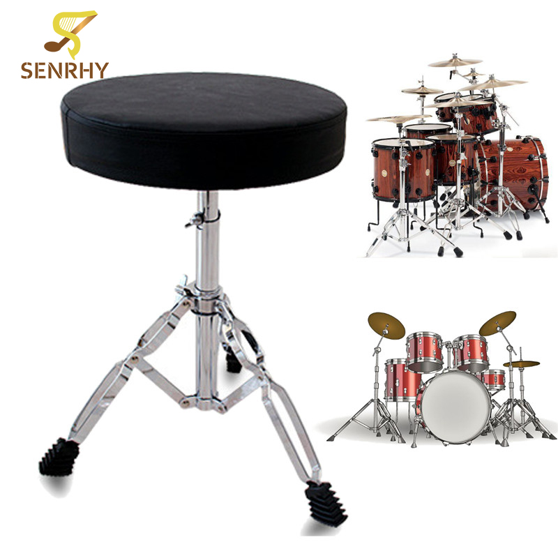 SENRHY Drum Throne Padded Seat Stool Stand Drummers Guitar Keyboard Percussion Chair Parts & Accessories tama ht530bc wide rider drum throne cloth top