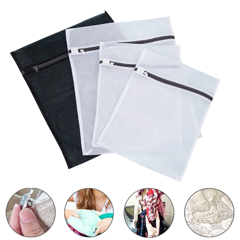 Hot Sale 4Pcs Mesh Laundry Bag Thickened Zippered Clothes Bra Underwear Protector Laundry Bags for Washing Machines