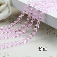 Wholesale Light Pink Color 5000 Crystal Glass Beads Loose Round Stones Spacer For Jewelry Garment 4mm