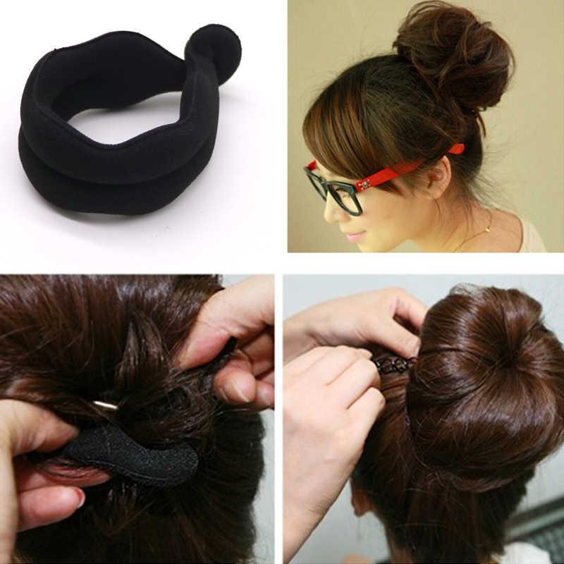 1 PCS ขายร้อน Magic Foam ฟองน้ำ Headwear Hairdisk อุปกรณ์ผม Bun Updo Headbands ผมอุปกรณ์จัดแต่งทรงผม Braiding เครื่องมือ
