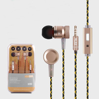 New Arrival Wired Earphone With Microphone HD Stero In Ear Headset For Iphone Samsung Huawei Xiaomi