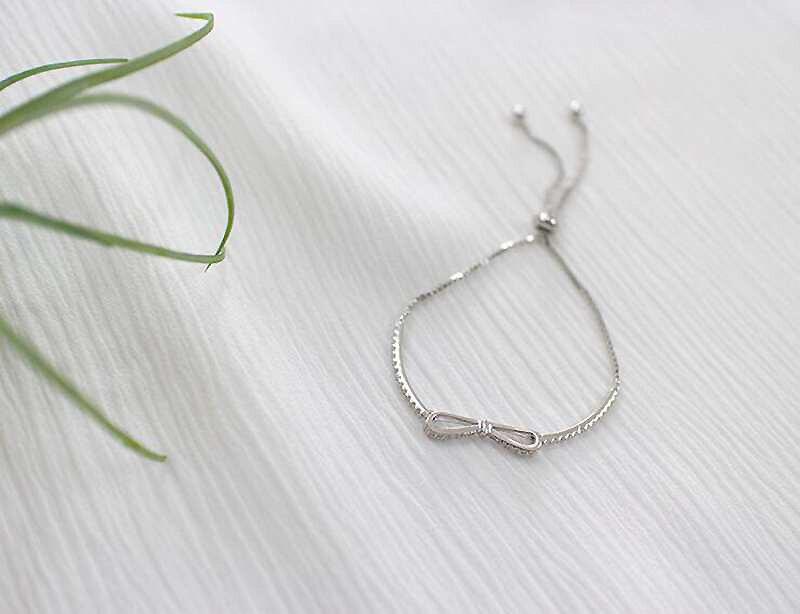 HTB1SMSwliMnBKNjSZFzq6A qVXaG Ruifan Fashion Box Chain Bowknot 100% 925 Sterling Silver Bracelet Ladies Cubic Zircon Bracelets Female Women's Jewelry YBR057