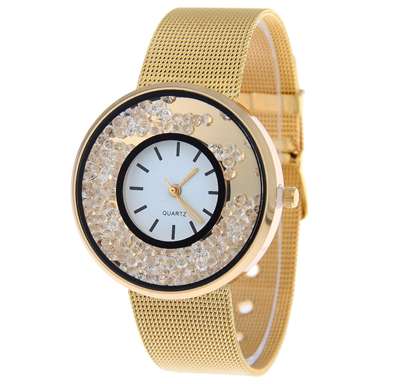 Dropshipping Fashion Gold Watches Women Luxury Brand Steel Mesh Bracelet Watches Ladies Quartz Dress Wrist Watches Reloj Mujer