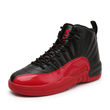Outdoor Sports Men Red Basketball Shoes Training Sneakers Basket Homme Mid-High Top Athletic Air 12 Non-Slip Shoe tenis basquete