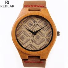 Hot Sale Classic Bamboo Wood Genuine Leather Analog Quartz Dress Wristwatches Wrist Watch Clock for Men Male Women Female OP001