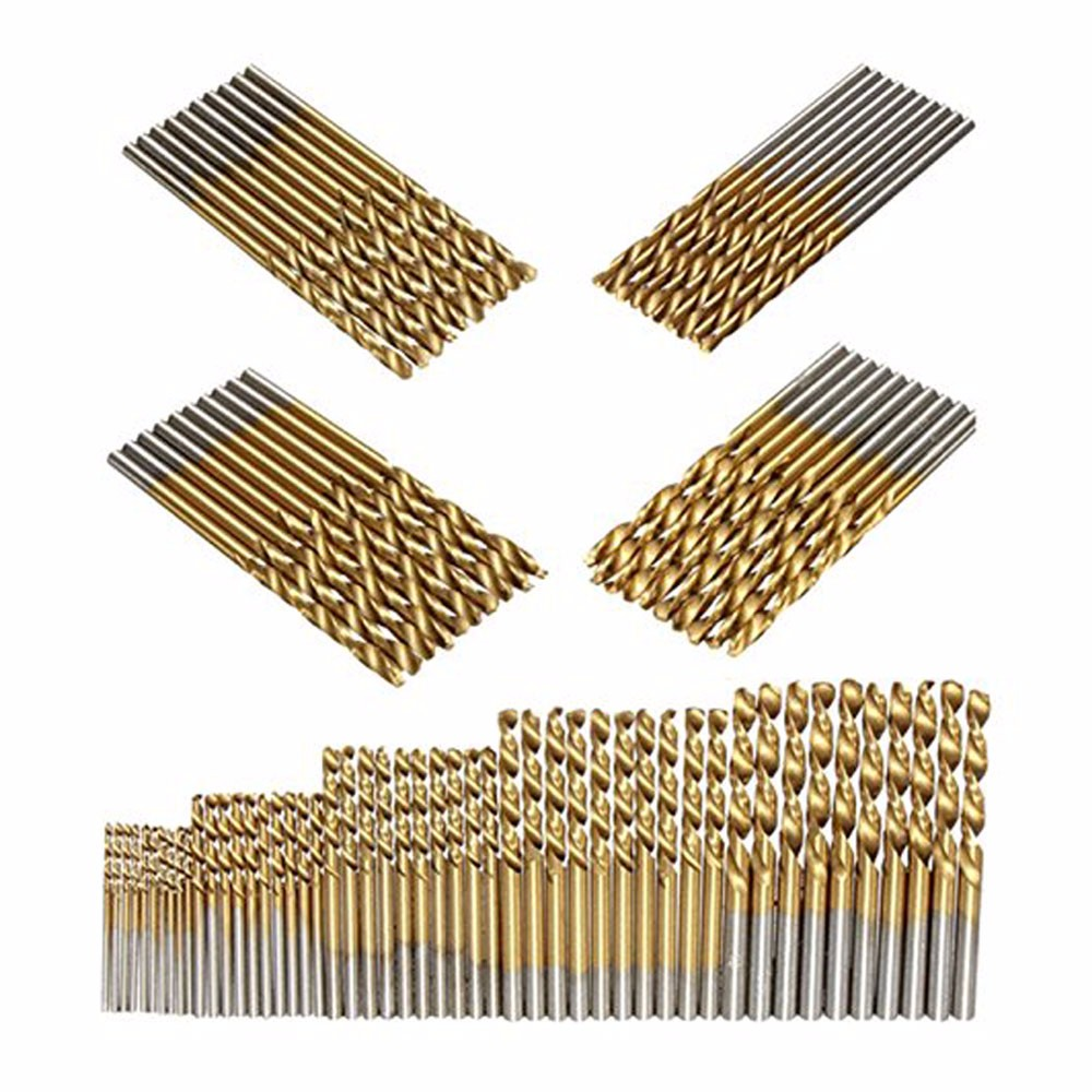 5pcs/50pcs Set High Speed Steel Twist Drill 1.0/1.5/2.0/2.5/3mm Titanium Coated HSS Drill Hand Tools Drill Bit Set Dropshipping