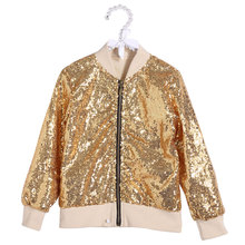 Toddler Baby Girl Jacket Kids Girls Coat Infant Child Clothes Sequin Clothing Kids Sequin Jacket New Year Birthday Sequin Coats