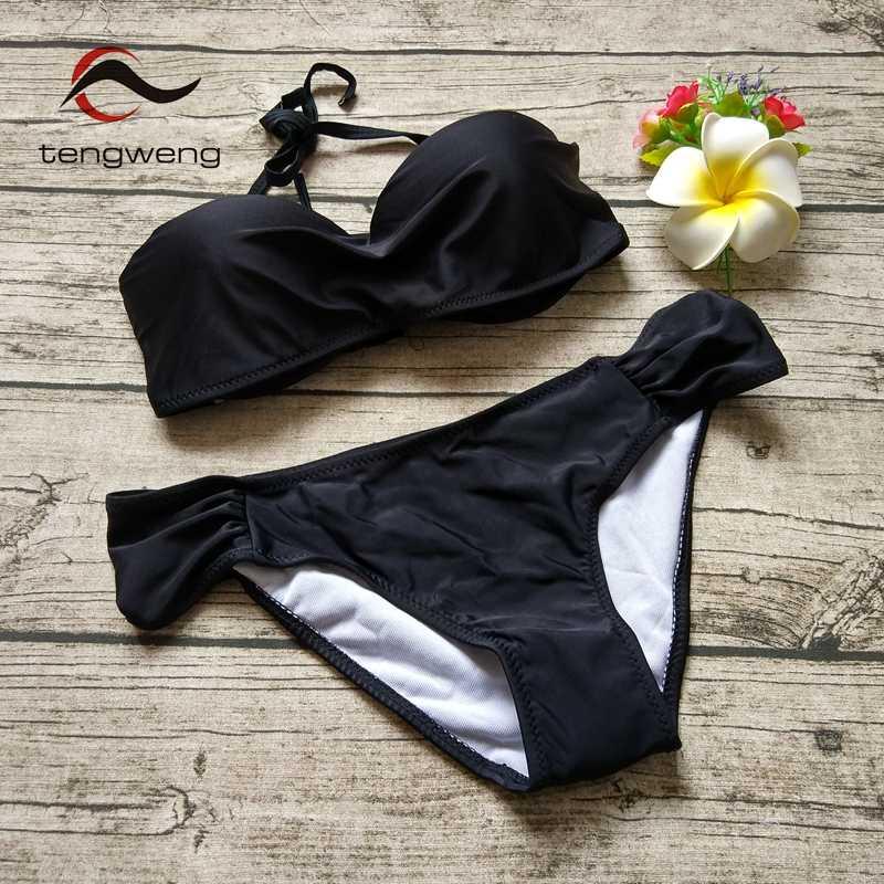 8da28fbde447b ... Tengweng 2019 Summer New Sexy Thong Two piece Women bikini Brazilian  Swimwear Cheap Micro Swimsuit Push