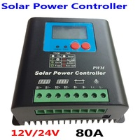 80A 100A 12V /24V Battery Charger Regulator for Solar Panels LCD Display Charging Off Grid Solar Charge Controller 80A system
