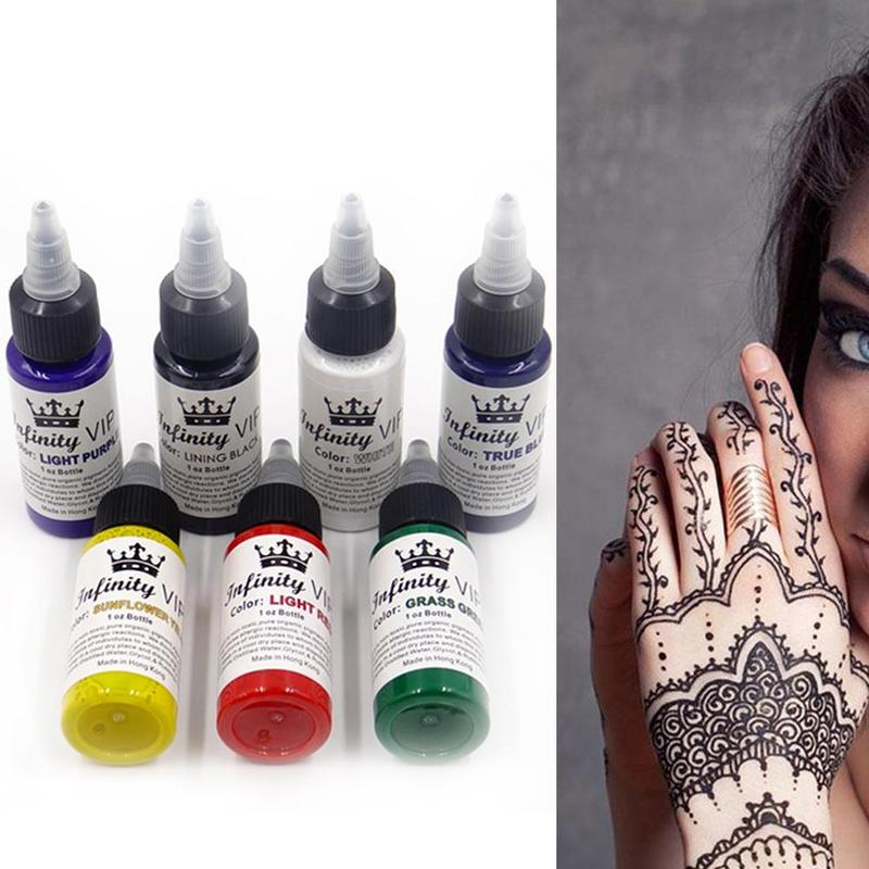 30ml Natural Plant Tattoo Ink Pigment For Semi-permanent Eyebrow Eyeliner Lip Body Arts Paint Makeup Non-toxic Tattoo Supplies 2