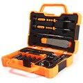 45 en 1 juego De Destornilladores de Precisión Kit de Herramientas de Reparación de Acero de Aleación Kit destornillador Para Tabletas de Reparación de PC Con la Caja Del Teléfono Móvil Caso
