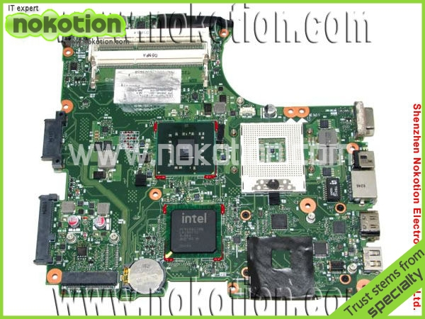 NOKOTION 605748-001 Mainboard for HP CQ320 laptop motherboard Intel integrated DDR3 100% Full Tested Mother Boards free shipping v000138330 laptop motherboard for toshiba satellite l300 ddr2 full tested mainboard free shipping