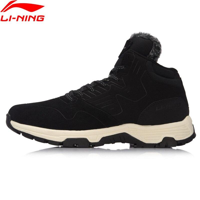 все цены на Li-Ning Men LN Cozy The Trend Winter Walking Shoes WARM SHELL Wearable Anti-Slippery Sneakers LiNing Sports Shoes AGCM193 YXB106 онлайн