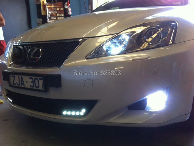 US $25 49 25% OFF|2x No Error Bright White 9006/HB4 High Power 20W CREE LED  Fog Light Daytime Running Light Bulb For Lexus IS 200,250,300 2007+-in Car