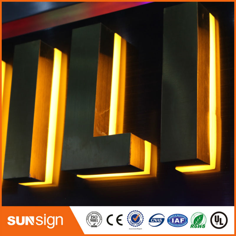 Aliexpress Supplier Waterproof LED Backlit Lettersoutdoor Illuminated Signs