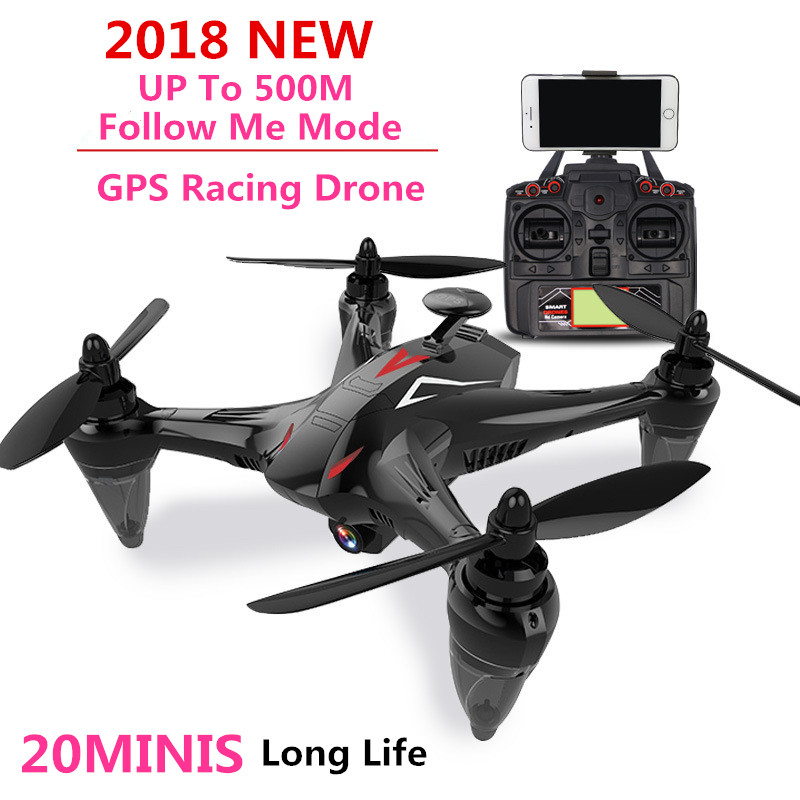 2018 GPS Follow Me Racing RC DRONE 720P 1080P WIFI FPV Fix Point Professional Remote Control Quadrocopter RC Helicopter vs X16