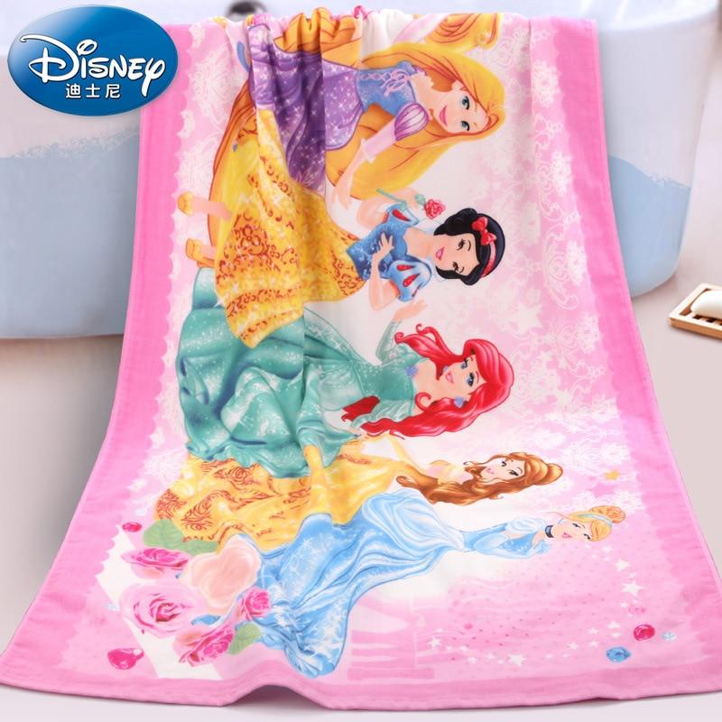 Disney Princess Elegant Bath Towel 80*150cm Pink Cotton Gauze Bath Towel for Girls