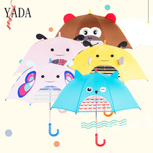 YADA Children Cute Cartoon Umbrella For Boys Girls Animation Creative Long-handled 3D Ear Modeling Kid Long Handl YS397
