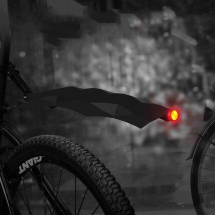 Mountain Bike Cycling Front Rear <font><b>Fender</b></font> Bicycle Mudguard Set Bike <font><b>Fenders</b></font> with LED Light