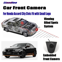 Liandlee Car Front View Camera Small Logo Embedded For Honda Accord City Civic Fit / 4.3 LCD Screen Monitor Cigarette Lighter