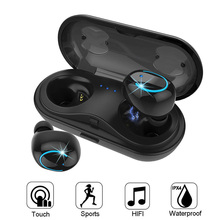 купить TWS True Wireless Bluetooth Earphones, In-Ear Stereo Earbuds mini sport Headset with Mic Charging Box for xiaomi samsung iphone онлайн