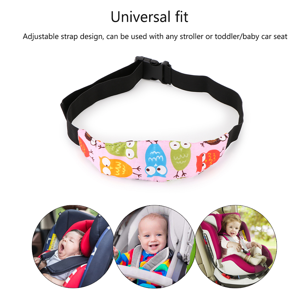 Image 2 - Practical Safety Baby Kids Stroller Car Seat Sleep Nap Aid Head Fasten Support Holder Belt Head Support Holder Sleep Belt Owl-in Seat Belts & Padding from Automobiles & Motorcycles