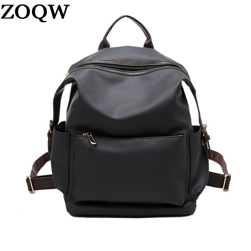547d6f7b5b4 ZOQW Preppy Style Waterproof Backpack Women Simple Design Bagpack Casual Backpacks  Lady Shoulder Bag Girl School
