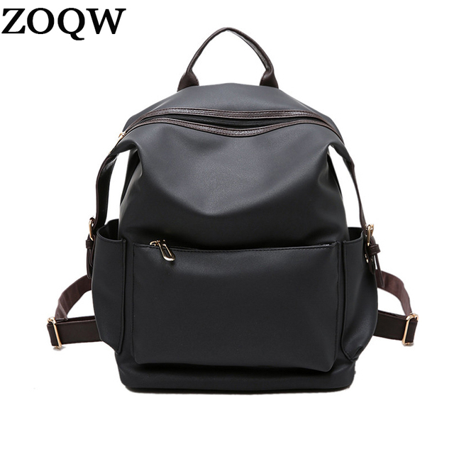 ZOQW Preppy Style Waterproof Backpack Women Simple Design Bagpack Casual  Backpacks Lady Shoulder Bag Girl School 4f73b7dbc9