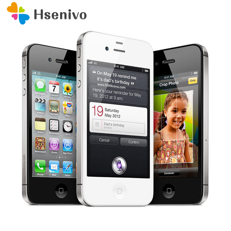 Apple iPhone 4S Original Unlocked 64gb GSM/WCDMA 5mp Used Cell-Phone-Refurbished Camera