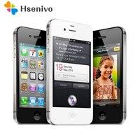 Оригинальный iPhone 4S разблокированный мобильный телефон двухъядерный WCDMA 3g wifi gps 8MP камера apple сотовый телефон Восстановленный