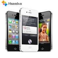 Téléphone portable d'origine iPhone 4 S débloqué double noyau WCDMA 3G WIFI GPS 8MP appareil photo apple téléphone portable remis à neuf
